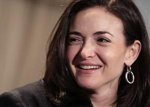Sheryl Sandberg, Facebook's chief operating officer, speaks at a luncheon for the American Society of News Editors Thursday, April 7, 2011, in San Diego.