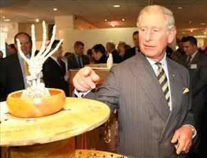 Britain's Prince Charles, left, President, Business in the Community, at the opening of a new Start-Up Shop in The Mall in Middlesbrough, England, Monday, Oct. 24, 2011.