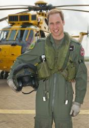Prince William is shown at RAF Valley in Anglesey Wales.