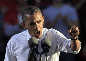 President Obama speaks during a campaign event at the Ohio State University Oval, Tuesday, Oct. 9, 2012, in Columbus, Ohio.