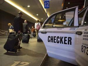 A Checker Cab in Las Vegas, Friday, March 1, 2013.