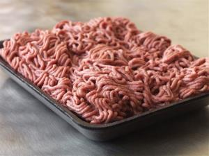This file photo provided by Beef Products Inc., shows a sample of their lean, finely-textured beef, aka pink slime.