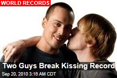 Two Guys Break Kissing Record