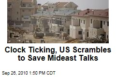 Clock Ticking, US Scrambles to Save Mideast Talks