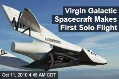Virgin Galactic Spacecraft Makes First Glide Flight