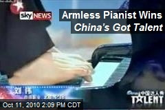 Armless Pianist Wins China's Got Talent