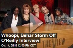 Whoopi Goldberg, Joy Behar Storm Off View Set During Bill O'Reilly Interview