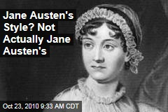 Jane Austen&#39;s Style? Not Actually Jane Austen&#39;s