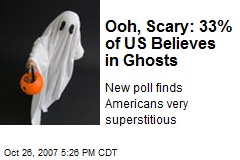 Ooh, Scary: 33% of US Believes in Ghosts