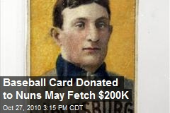 Rare Baseball Card Auctioned by Nuns