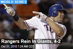 Rangers Rein In Giants, 4-2