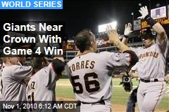 Giants Near Crown With Game 4 Win