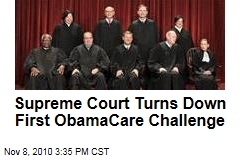 Supreme Court Declines Health Care Challenge