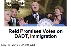 Reid Promises Votes on DADT, Immigration