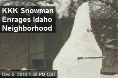 KKK Snowman Enrages Idaho Neighborhood