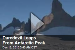 Daredevil Leaps From Antarctic Peak