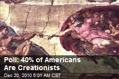 Poll: 40% of Americans Are Creationists