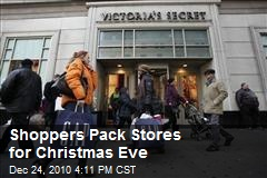 Shoppers Pack Stores for Christmas Eve