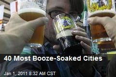 40 Most Booze-Soaked Cities