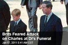 Brits Feared Attack on Charles at Di's Funeral