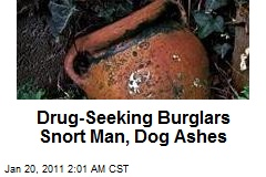 Drug-Seeking Burglars Snort Man, Dogs&#39; Ashes