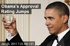 Obama&#39;s Approval Rating Jumps