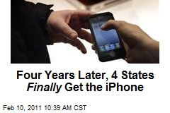 Four Years Later, 4 States Finally Get the iPhone