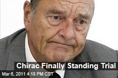 Former French President Jacques Chirac to Finally Stand Trial