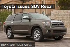 Toyota Issues SUV Recall
