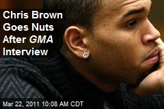Chris Brown  Interview on Chris Brown Goes Nuts After Gma Interview