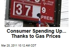 Consumer Spending Up on Gas Prices, Inflation; Personal Income Up