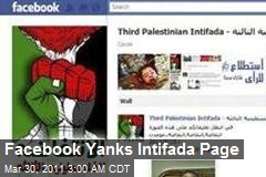 Facebook Yanks Intifada Page