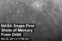 NASA Spacecraft Takes First Photo of Mercury from Orbit