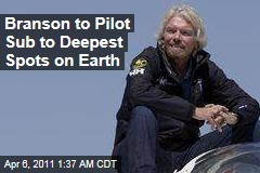 Richard Branson Unveils Virgin Oceanic Deep-Sea Venture