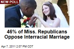 Poll: 46% of Mississippi Republicans Think Interracial Marriage Should Be Illegal