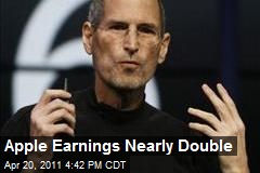 Apple Earnings Nearly Double