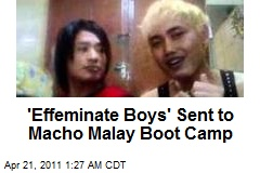 'Effeminate Boys' Sent to Macho Malay Boot Camp