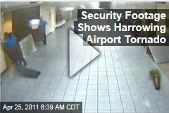 St. Louis Airport Tornado Video: Security Footage Captures Terrifying Moments