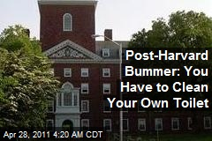 Post-Harvard Bummer: You Have to Clean Your Own Toilet