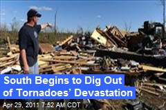 South Begins to Dig Out of Tornadoes' Devastation
