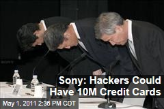 Sony Apologizes, Says PlayStation Hackers Could Have up to 10M Credit Cards