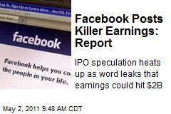 Facebook Posts Killer Earnings: Report