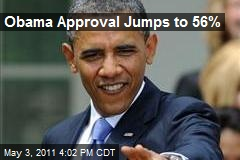 Obama Approval Jumps to 56%