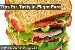 Tips for Tasty In-Flight Fare