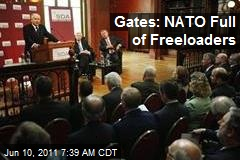 Gates: NATO Full of Freeloaders