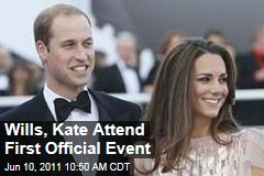 Prince William and Kate Middleton, the Duke and Duchess of Cambridge, Attend First Official Engagement as Married Couple