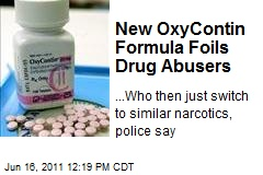 New OxyContin Formula Foils Drug Abusers