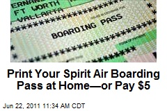 Print Your Spirit Air Boarding Pass at Home—or Pay $5