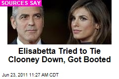 Elisabetta Canalis Tried to Tie George Clooney Down: Sources