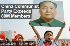 China's Communist Party Exceeds 80 Million Members